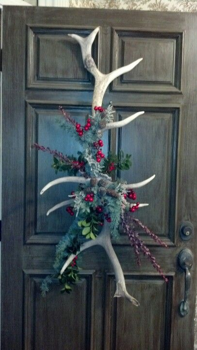Repurpose deer antlers...Millstone Market and Nursery