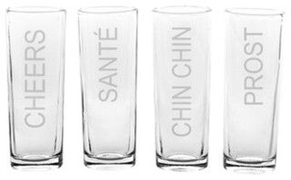 Cheers Shooters, Set of 4 - contemporary - cups and glassware - by Nordstrom