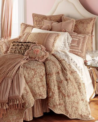 """Antique Rose"" Bed Linens by Sweet Dreams at Horchow."