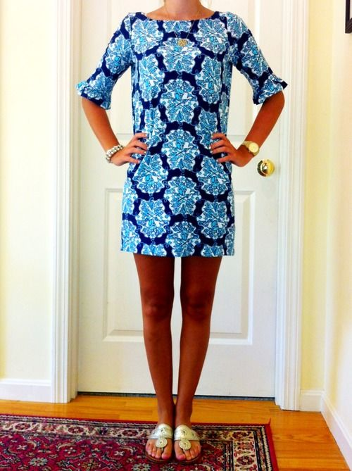 Lilly Pulitzer Dress and Jack Rodgers Shoes