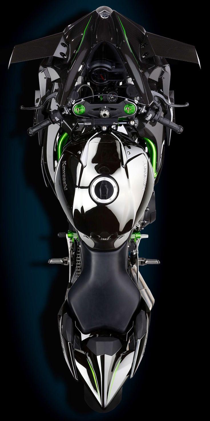 Kawasaki Ninja H2R supercharged track bike.