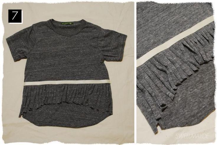 DIY fringe t-shirt   foam mag   alternative apparel workshop