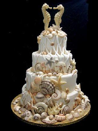 Beach wedding cake - Torta matrimonio in spiaggia
