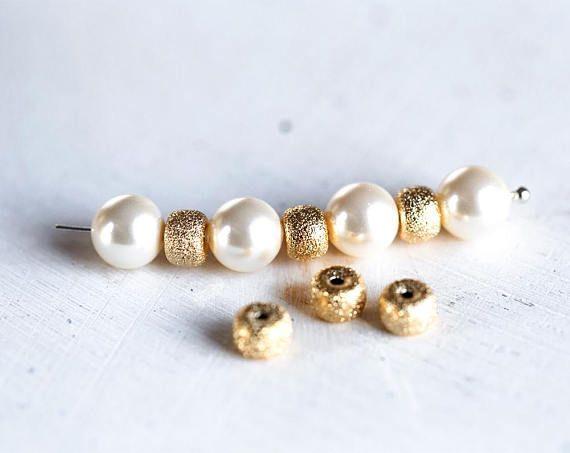 2982 Heishi spacer beads 6 mm Metal beads Heishi bead spacers