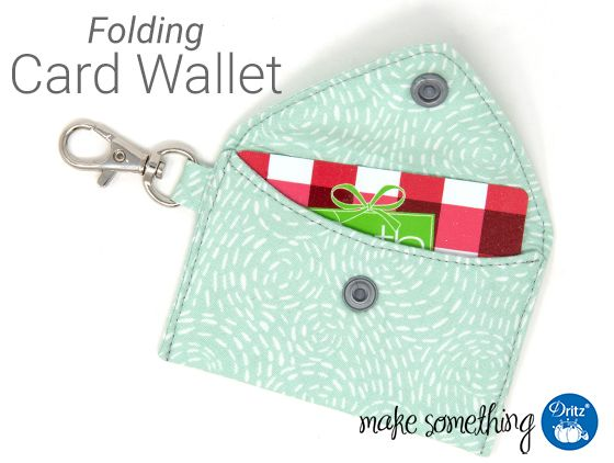 Beginner Sewing: Make a Card Wallet with Snap Closure. Use a variety of Dritz to…
