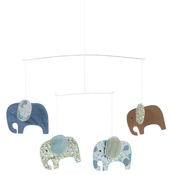Hanging Mobile - Blue Elephant