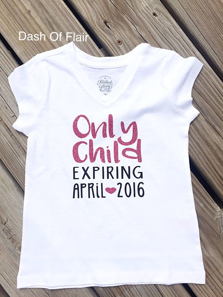 New to dashofflair on etsy only child expiring shirt big for Big sister birth announcement shirts