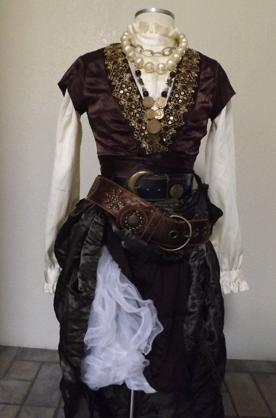 Women's Pirate Costume Including Jewelry by PassionFlowerVintage