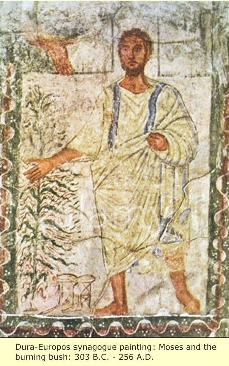 Moses And The Burning Bush  How did Jesus and the Hebrews become WHITE?