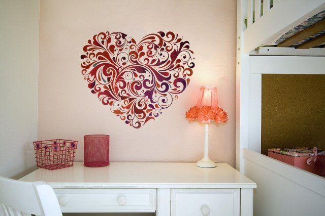 décoration murale en forme de coeur