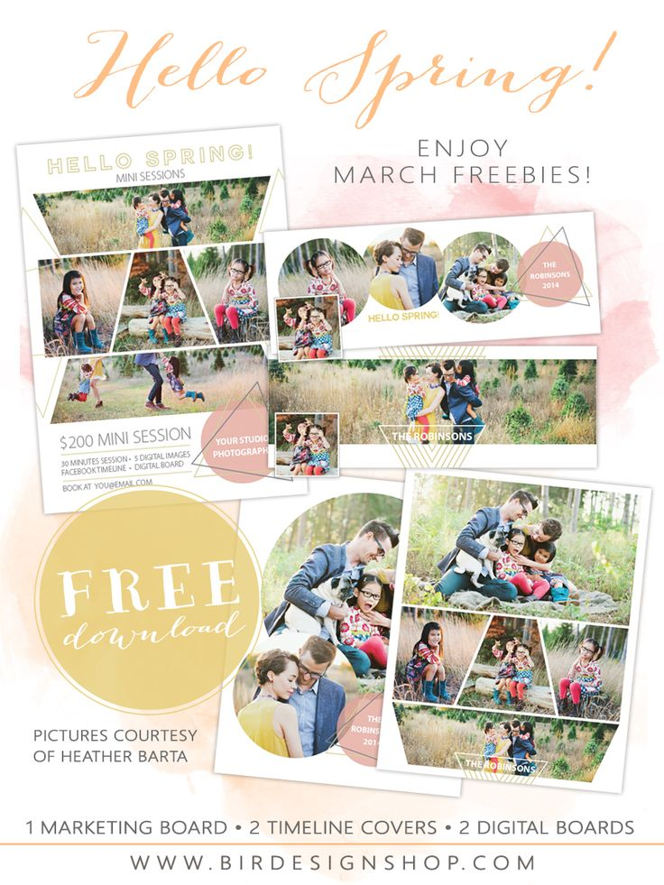 March Freebie - Free Photoshop templates for photographers