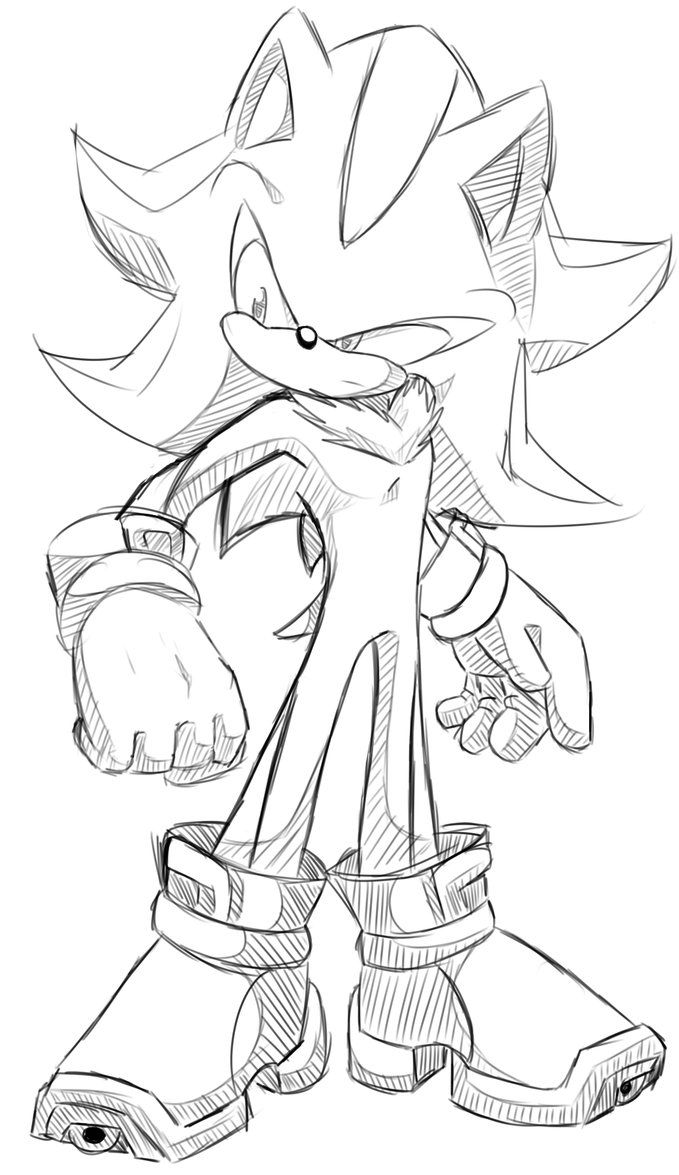 Shadow the hedgehog sketchy by Kyuubi83256 on deviantART