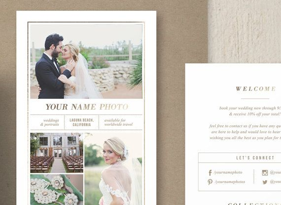 Rack Card Template for Photographers by designbybittersweet. Completely customizable templates for Photoshop.