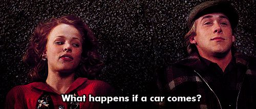 """""""What happens if a car comes?"""" We die. <3"""