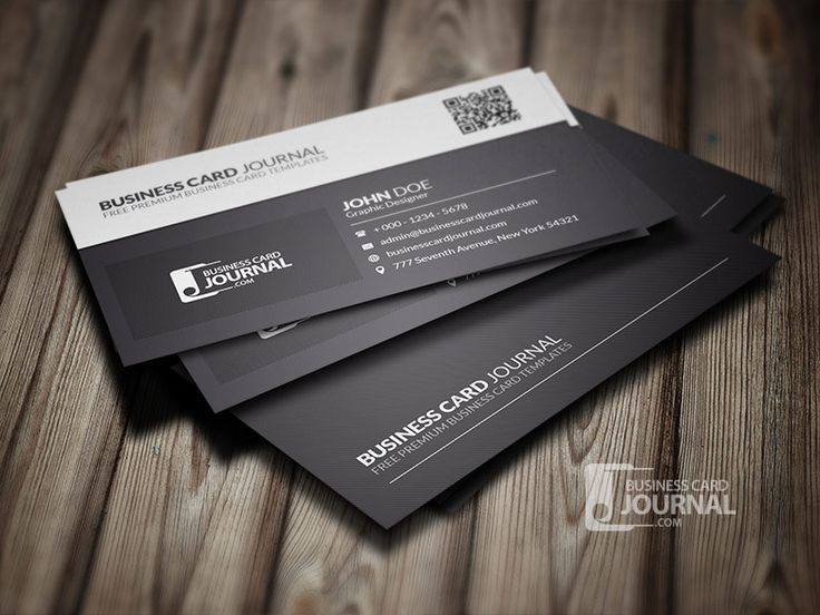 45 best business card images on pinterest free business cards black white qr code business card template colourmoves