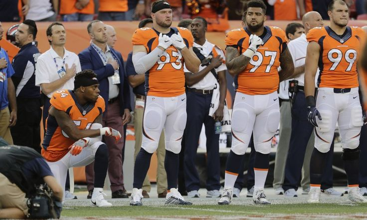 Broncos linebacker Brandon Marshall takes knee throughout nationwide anthem - http://news-linkedin.com/broncos-linebacker-brandon-marshall-takes-knee-throughout-nationwide-anthem/