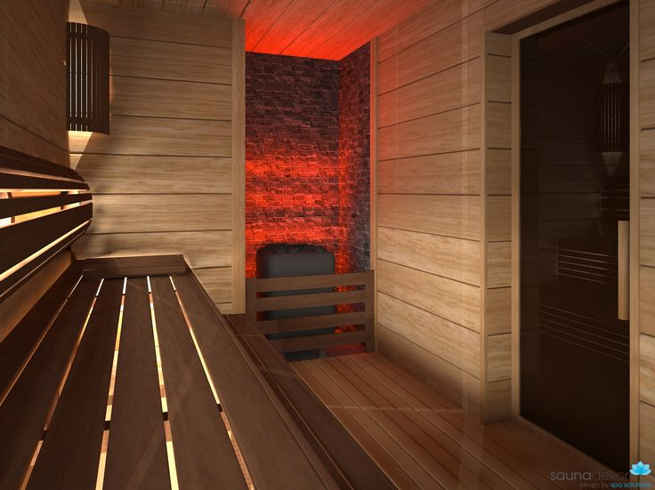 SAUNA RENDER ABACHI AND THERMOWOOD BENCHES