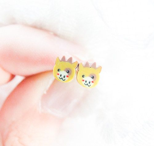 Cute Cow Earrings For Children For Girls by LePetitParadisPerdu