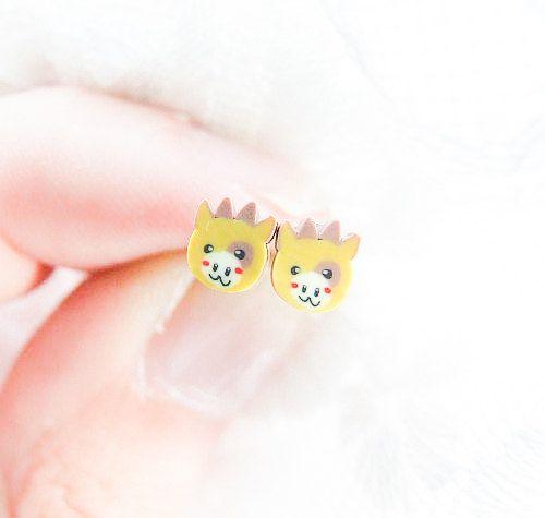 Cute Cow Earrings For Children For Girls by LePetitParadisPerdu