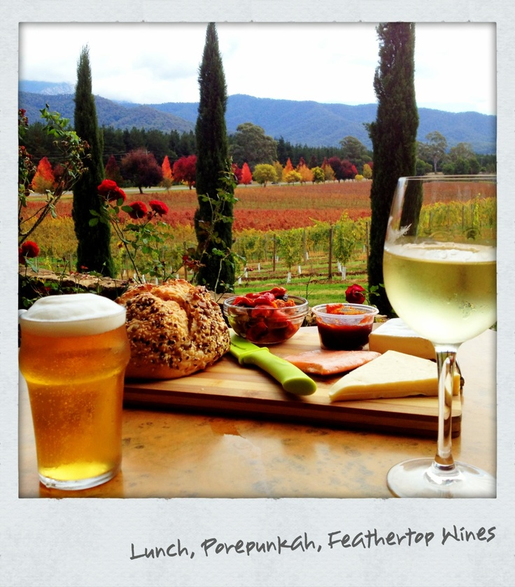 Bright, Victoria. Best afternoon with my soul mate. Food and wine, the best!
