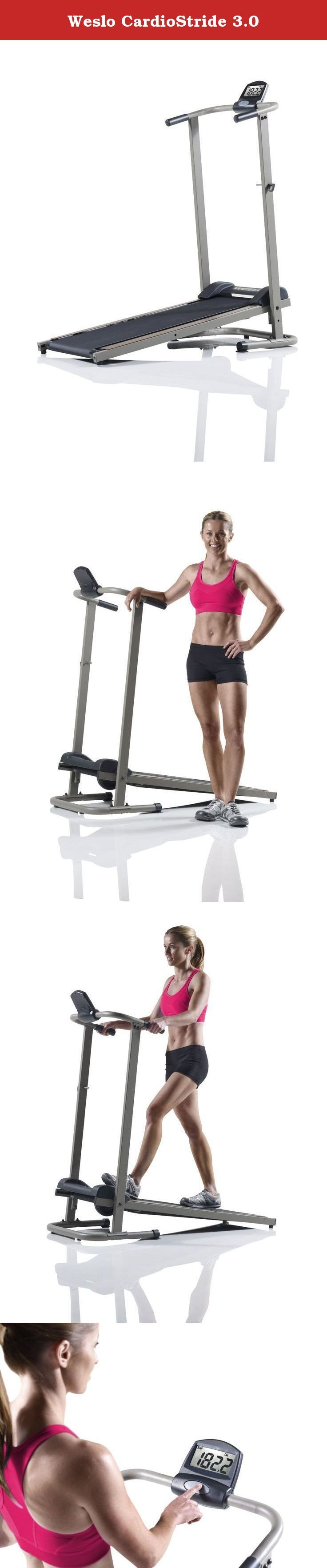 Weslo CardioStride 3.0. Save electricity* and money with the treadmill that doesn't require power from a wall outlet. The CardioStride 3.0 Treadmill is run manually, allowing you to engage different muscles and keeping your electricity cost down. *Batteries needed to power display.
