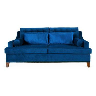 Check out this item at One Kings Lane! Bravo Velvet Sofa, Blue