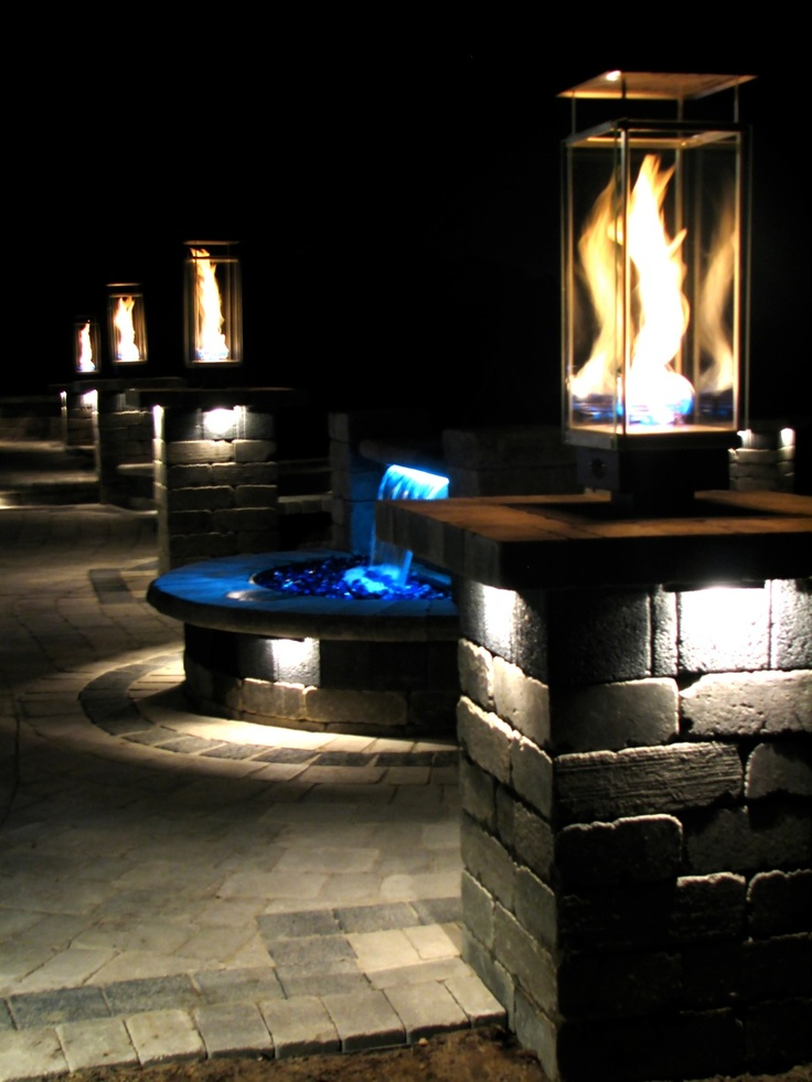 18 best outdoor lighting images on pinterest exterior lighting using integral lights and pondbuilder formalfalls led retaining wall water fall kit mozeypictures Gallery