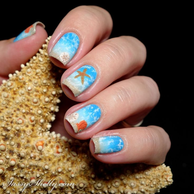 Digit-al Dozen DOES Summer - Starfish & Sand Dollars ~ Ocean Nail Art - Best 25+ Ocean Nail Art Ideas On Pinterest Beach Nail Art, Beach