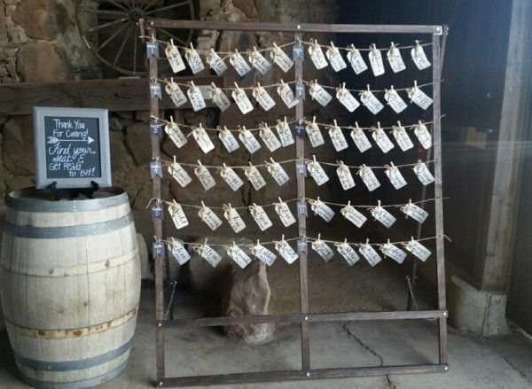 rustic place card holder
