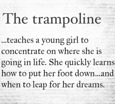 She quickly learns how to put her foot down and when to leap for her dreams.