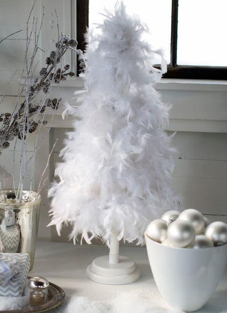 White feather tree