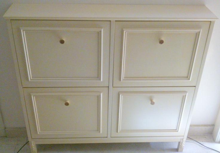 Cambia un mueble zapatero ikea con molduras pintura y barniz id es en or cocina ba o - Mueble zapatero ikea ...