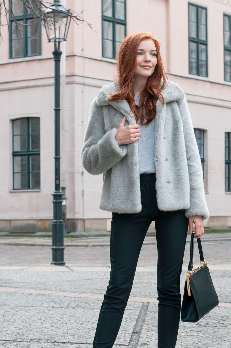 Grey Faux Fur Jacket-3