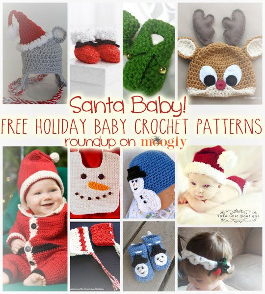 Free Christmas #Crochet Patterns for Babies!