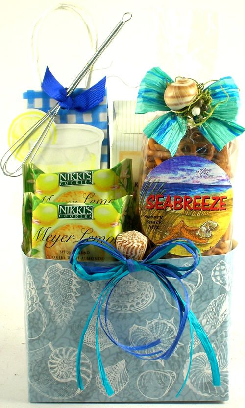 gift basket baskets florida beach summer tropical gifts theme gourmet christmas themed taste sun fun sand snacks food delights delivered
