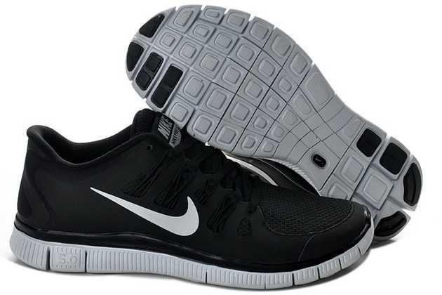 los angeles 61d9a 44dc0 ... Mens Black Silver Nike Free Run Shoes 49339 . ...