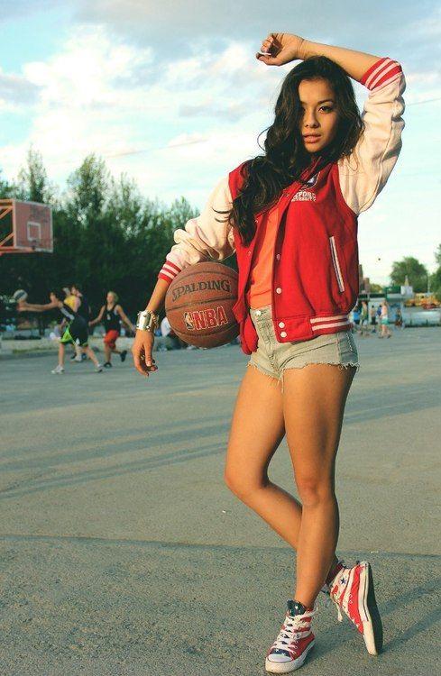 swag girl Basketball fashion Cool stylish convers