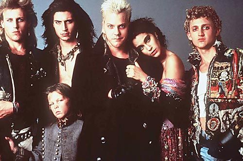 For some reason I'm really digging the hyper-aggressive 80s pre-grunge of The Lost Boys right now...plus the movie is awesome.