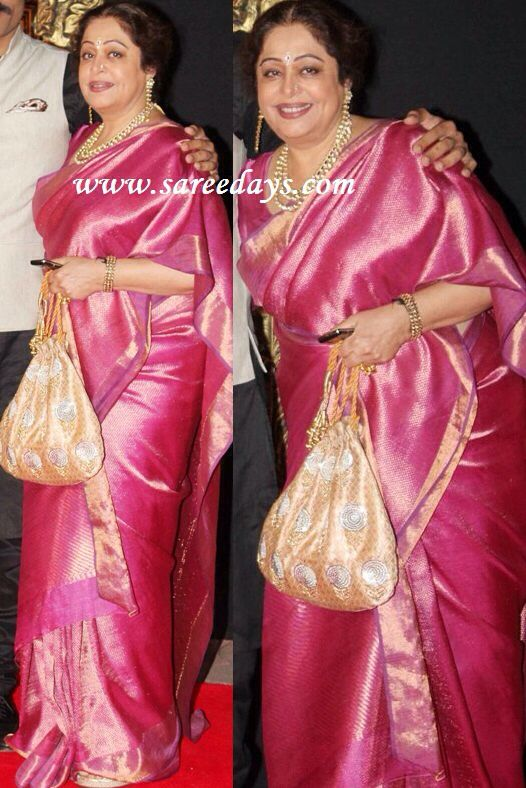 Kiron Kher in pink glory. Description by Mahua Roy Chowdhury