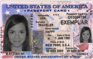 To increase speed, efficiency, and security at U.S. land and sea border crossings, the passport card contains a vicinity-read radio frequency identification (RFID) chip.