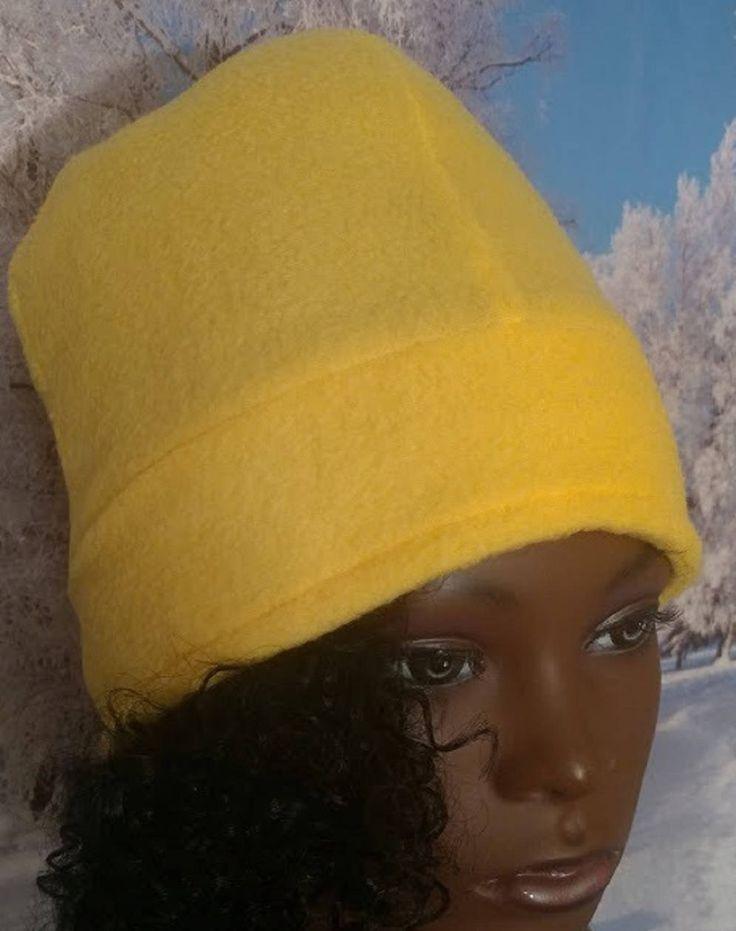 CUSTOM ELIZABETH: Women Winter Beanie, Women Winter Hats, Yellow Fleece Beanie, Women Fleece Hats, Winter Hats for Women, Ladies Winter Hats by StephFleeceDesigns on Etsy