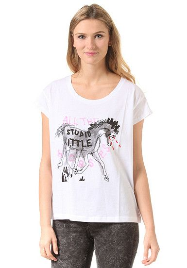 CHEAP MONDAY Have Stupid Horse - T-Shirt für Damen - Weiß - Planet Sports
