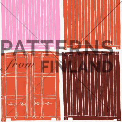 Turun satama by Maria Tolvanen  #patternsfromagency #patternsfromfinland #pattern #patterndesign #surfacedesign #mariatolvanen