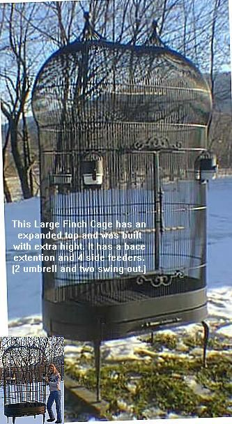 custom finch cage- from palace cages