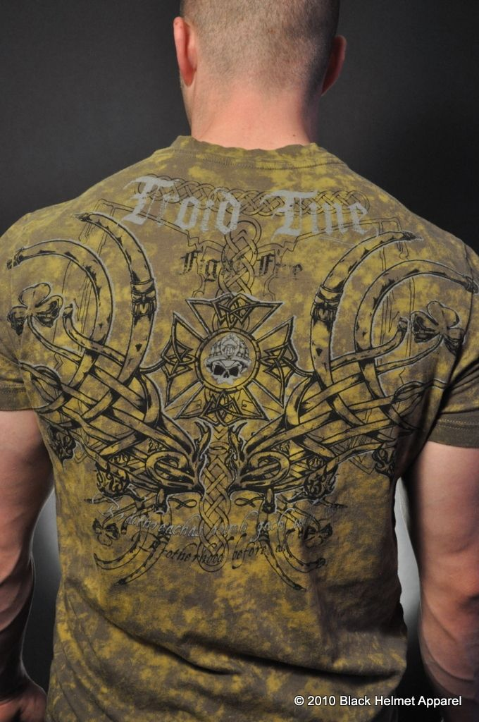 Troid Tine (Fight Fire Gaelic) Firefighters Acid Wash Tee- Black Helmet Firefighter Apparel