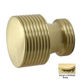 Allied Brass Polished Brass Round Cabinet Knob