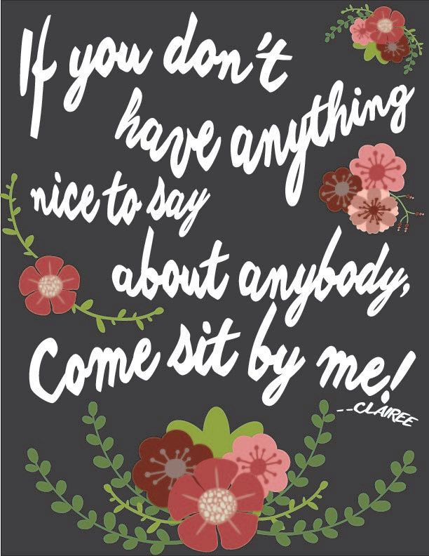 Steel Magnolias Movie Quote Clairee Belcher Come Sit by Me!  DIY Printable Print at Home Gift Woman Women Funny by TheGardenClubStudio on Etsy