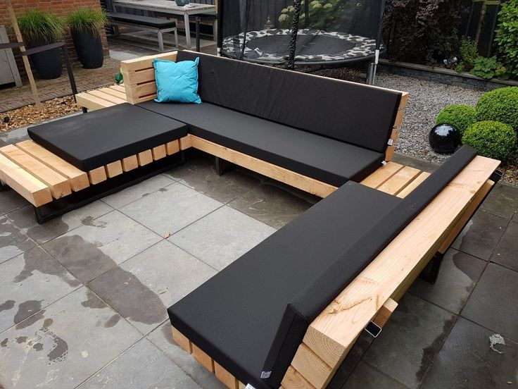 Douglas Ecksofa Aus Holz Und Balken Aus Balken Douglasecksofa Holz Und Garten Couch Loungemobel Garten Garten Lounge
