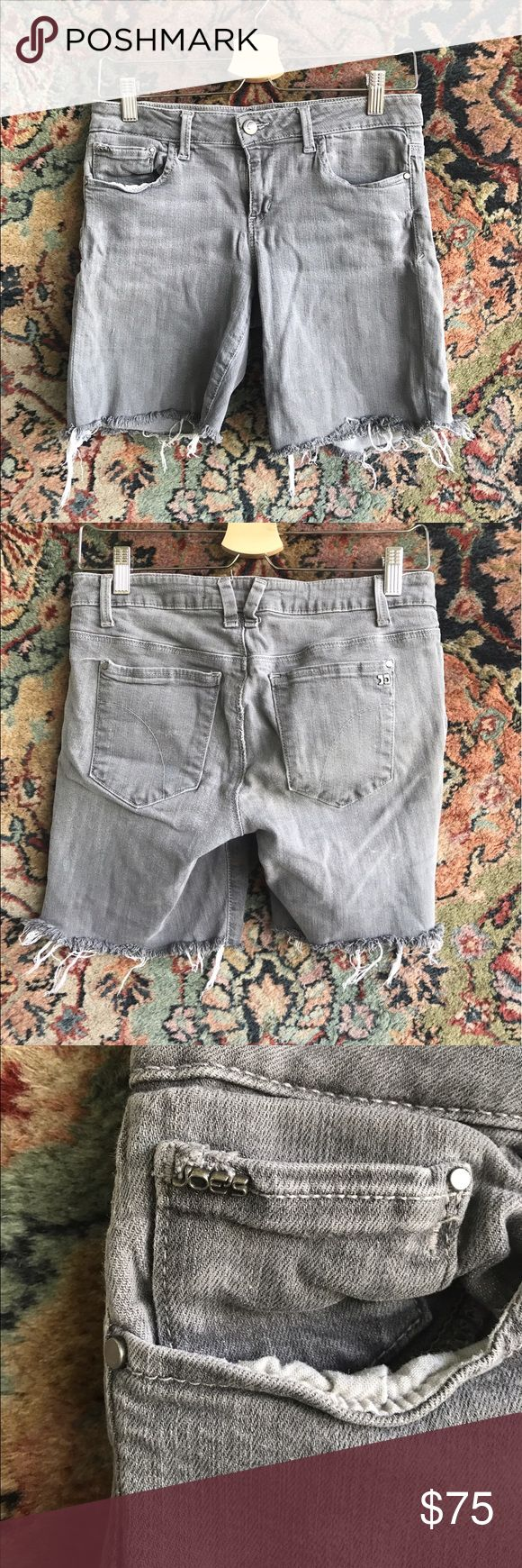 """Joes Jeans Cigarette Cutoff Jean Shorts Soft, broken in and cool! Fringed and cozy! In excellent condition. 14.5"""" waist, 8"""" rise and 7"""" inseam Joe's Jeans Shorts Jean Shorts"""