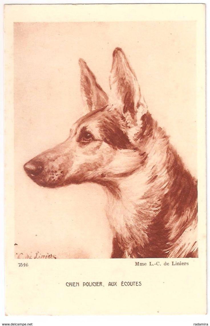 """Carte Postale Ancienne """"AUXÉCOUTES - Mme L.C. Liniers"""" France."""